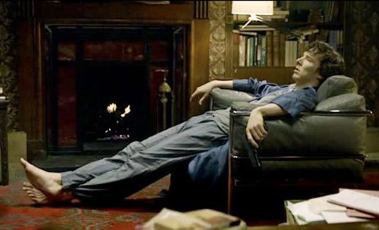 Sherlock in Le Corbusier's LC3 furniture design classics in the movies