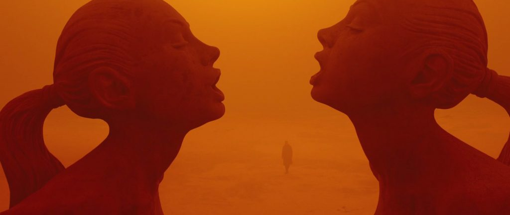 The sculpture garden of the red desert of Las Vegas in Blade Runner 2049