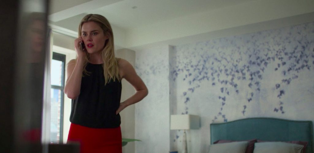 Trish Walker in Marvel's Jessica Jones has wonderful wallpaper on her bedroom wall