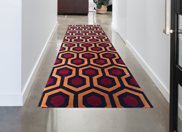 Hicks' Hexagon officially licensed luxury runner, designed by David Hicks, high quality 1 ply wool, as seen in The Shining Overlook Hotel