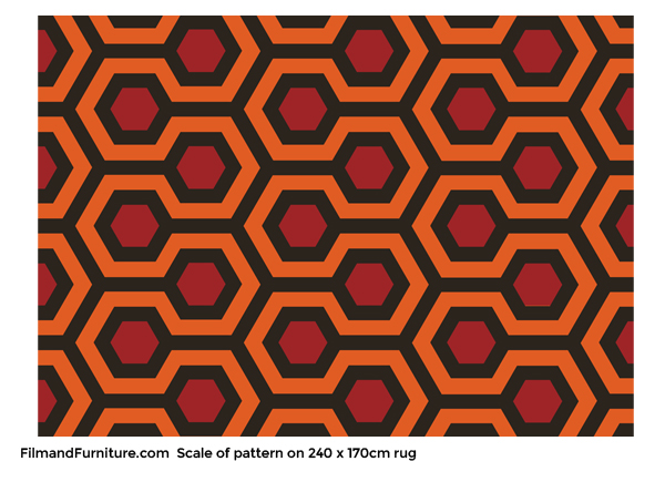 The Shining Overlook Hotel Rug Hicks Hexagon Officially Licensed 240x170cm Film And Furniture