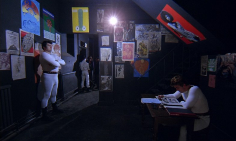 The entrance to the Korova bar in A Clockwork Orange