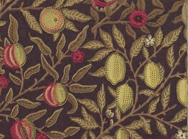 Fruit Wallpaper By William Morris Wine Manilla