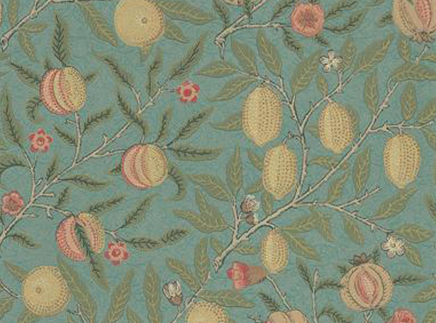fruit-wallpaper-william-morris-green-mulit-film-and-furniture
