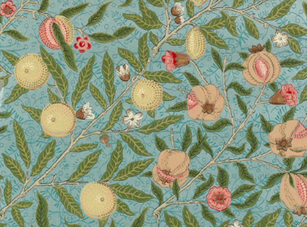 Fruit wallpaper by William Morris (slate/thyme)