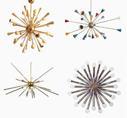 Our edit of vintage original sputnik chandeliers from Pamono.