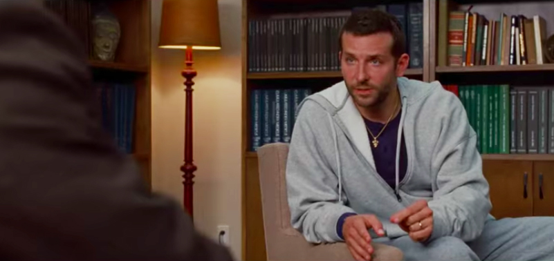 Bradley Cooper as Pat in Silver Linings Playbook