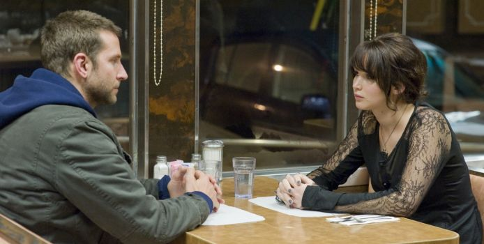 Bradley Cooper and Jennifer Lawrence as Pat and Tiffany in Silver Linings Playbook