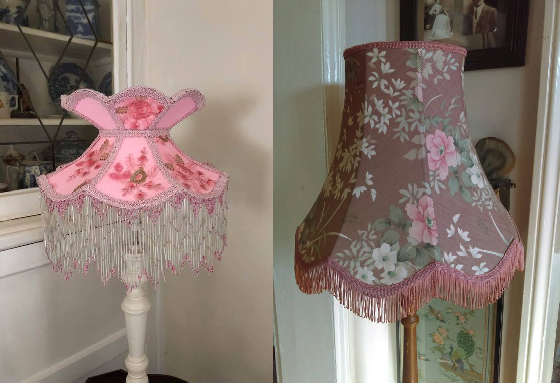 Lara Jean style fringed lamps currently available on Etsy