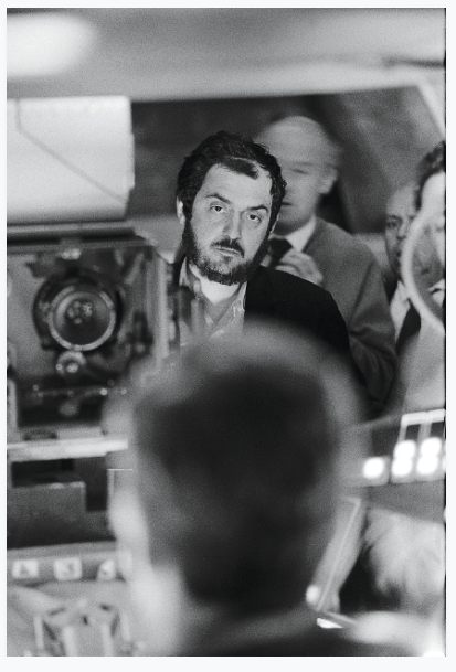 Stanley Kubrick filming in the centrifuge set, 2001: A Space Odyssey