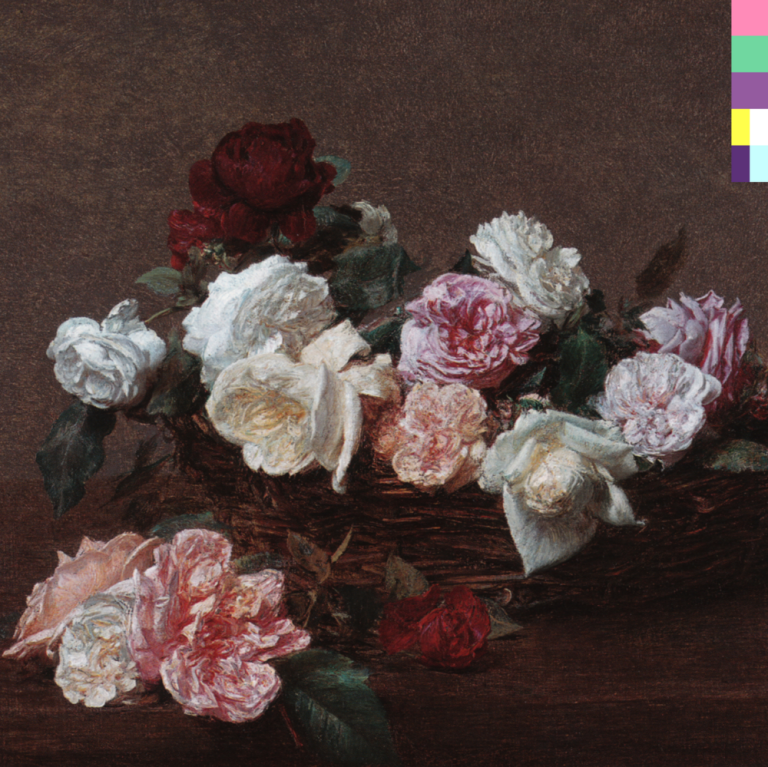 New Order's Power, Corruption and Lies album cover designed by Peter Saville