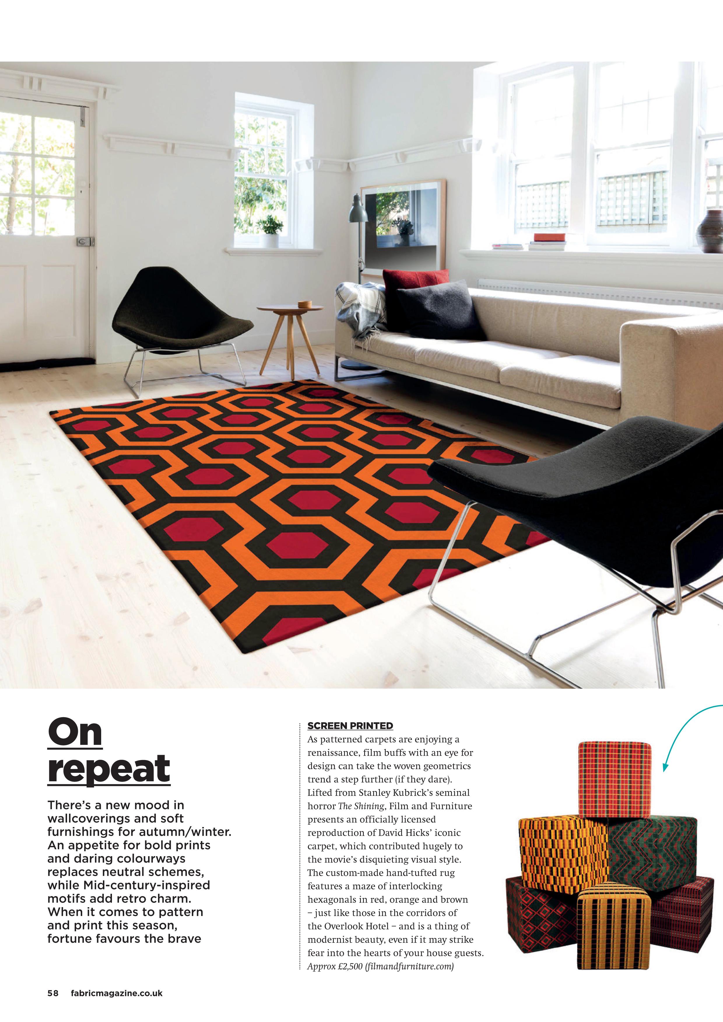 fabric magazine spread the shining carpet