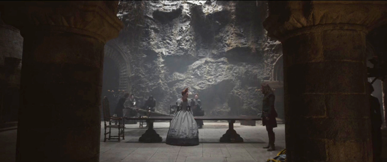 mary queen of scots film set