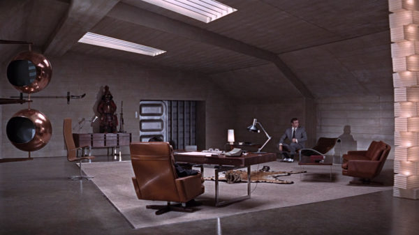 For sale: Bodil Kjær's handsome office desk as seen in three Bond movies