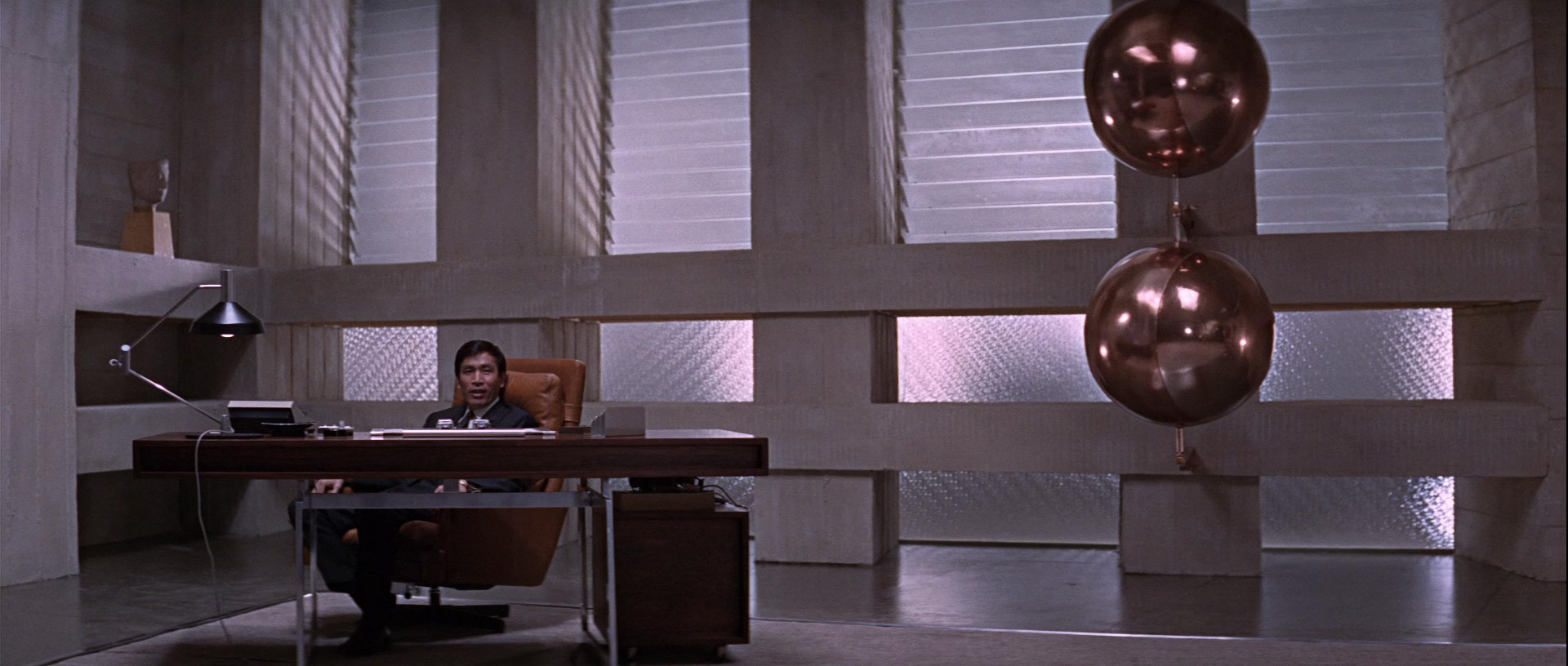 The Bodil Kjaer desk in the Bond movie You Only Live Twice