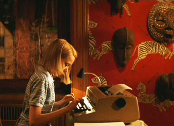 Zebra wallpaper as seen in The Royal Tenenbaums