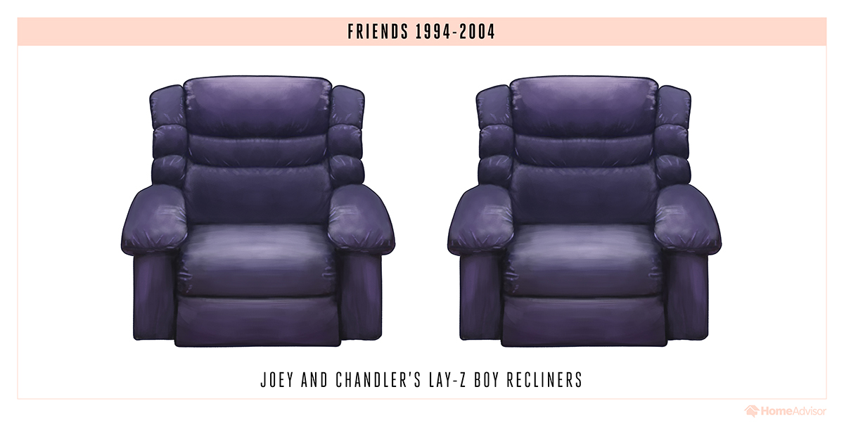 tv sitcom sofas chairs