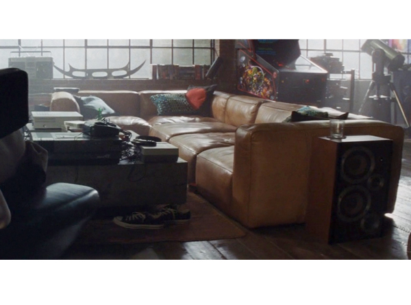 Mags Soft Sofa in leather as seen in Ready Player One