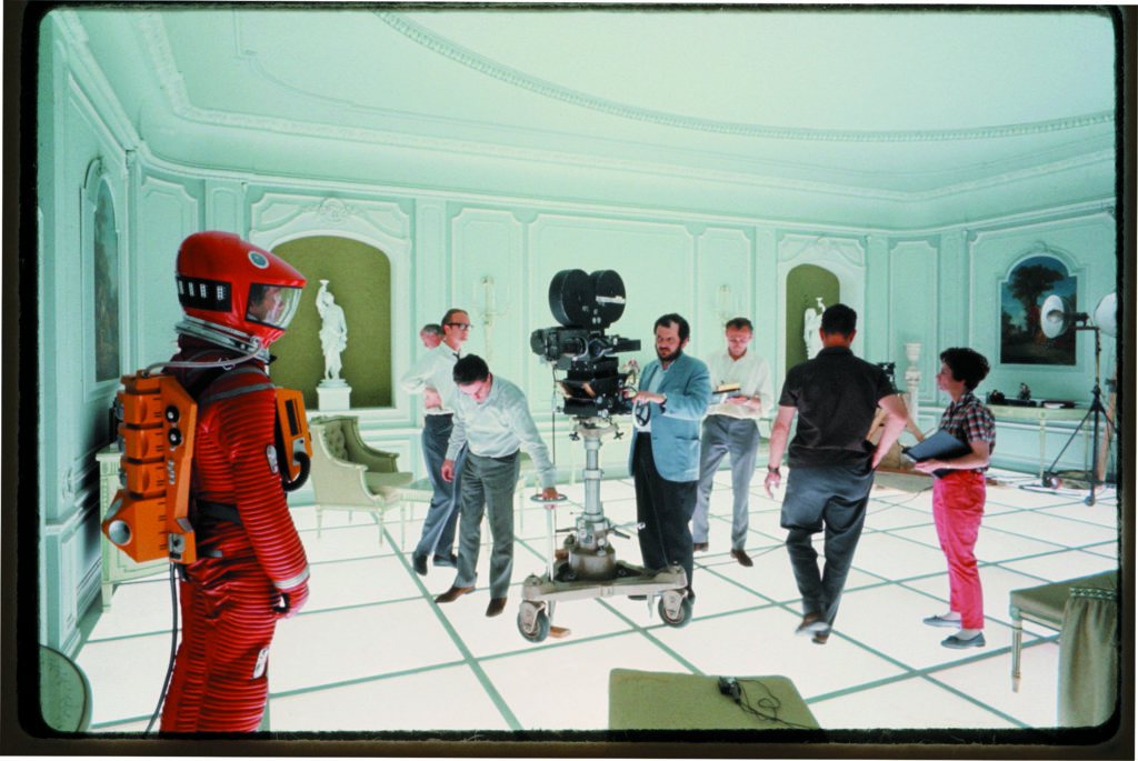 The film set of 2001: A Space Odyssey, directed by Stanley Kubrick