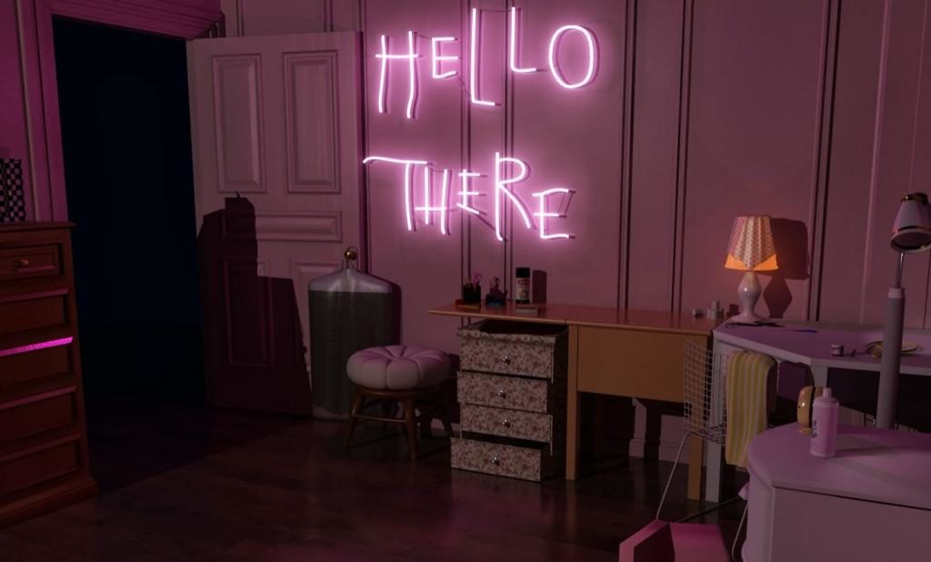 Batman Returns 'Hello There' neon sign