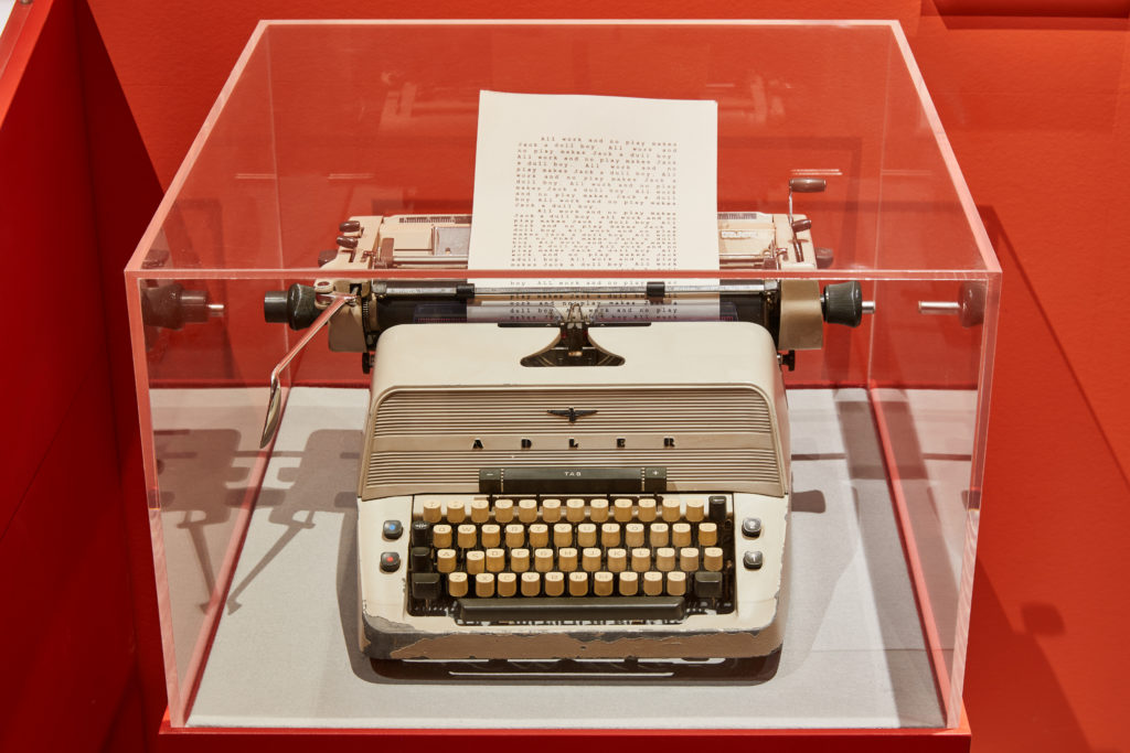 Jack's typewriter from The Shining