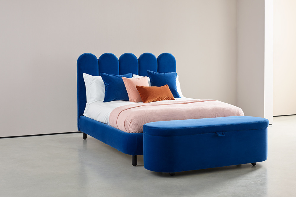 The Luca bed (named after Director ?????) by 2LG. Available from Love Your Home