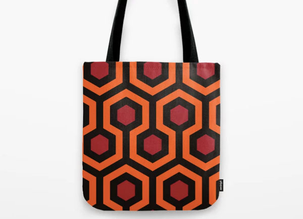 the overlook hotel carpet pattern tote bag
