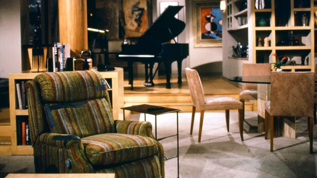 Frasier's apartment film set