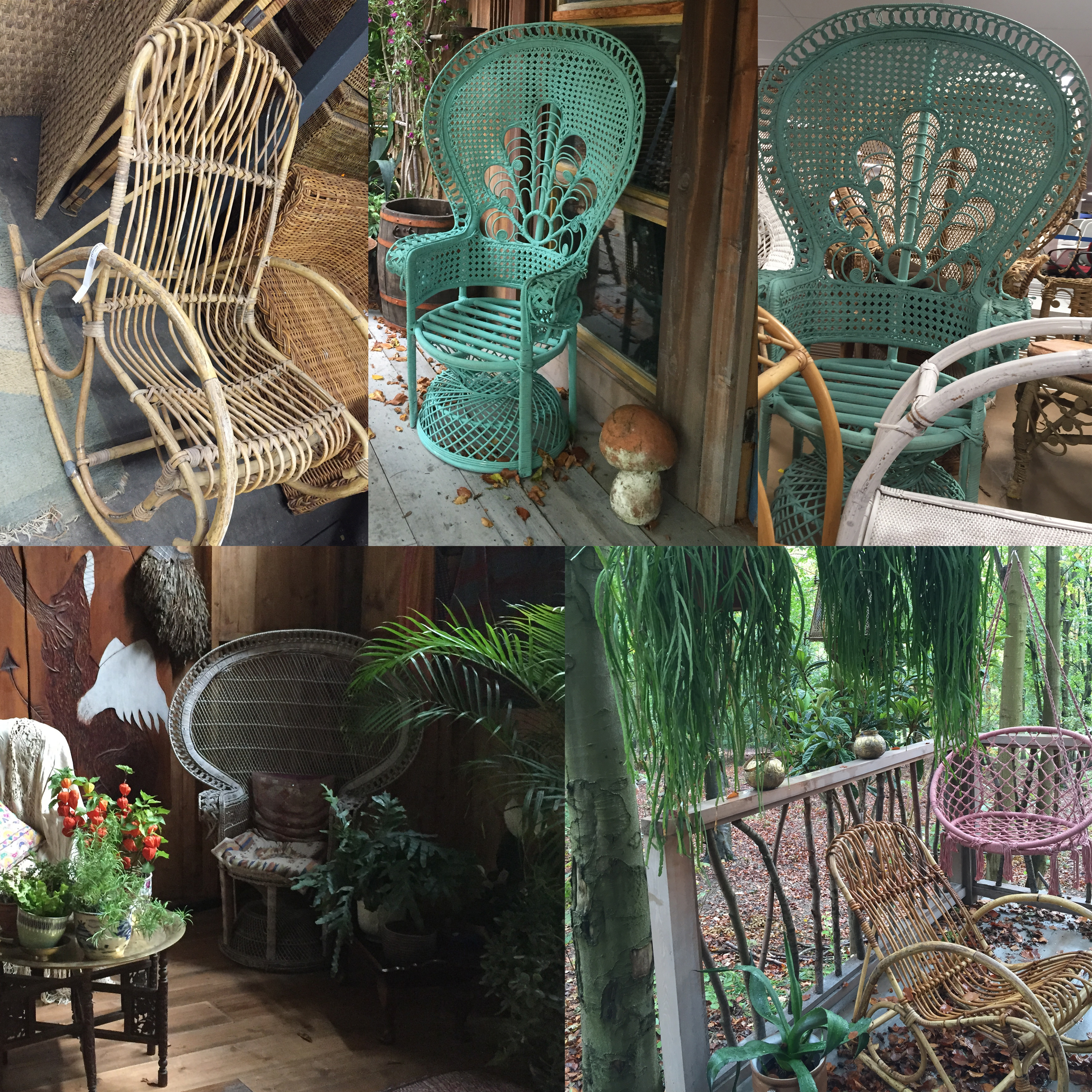 A variety of cane chairs were used in the Mama Casa filmset Rocketman filmsets