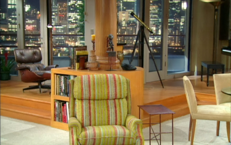 Eames Lounge chair (left) in Frasier Crane's apartment in Frasier