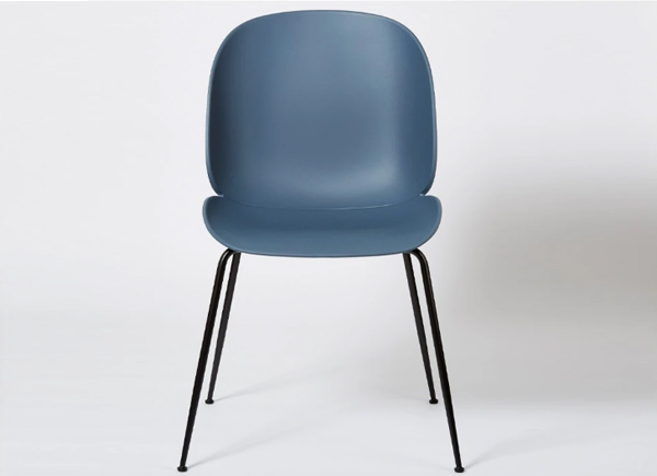 Gubi Beetle dining chair - un-upholstered & black legs