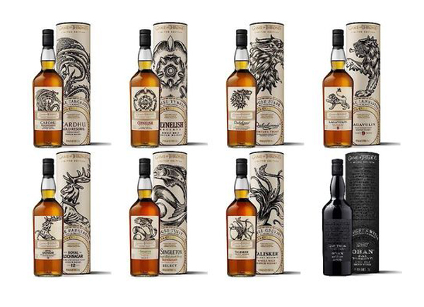 Game of Thrones whisky collection