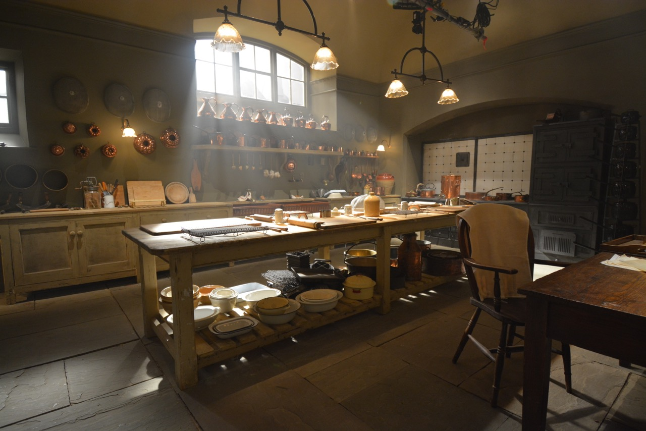 downton abbey kitchen film set