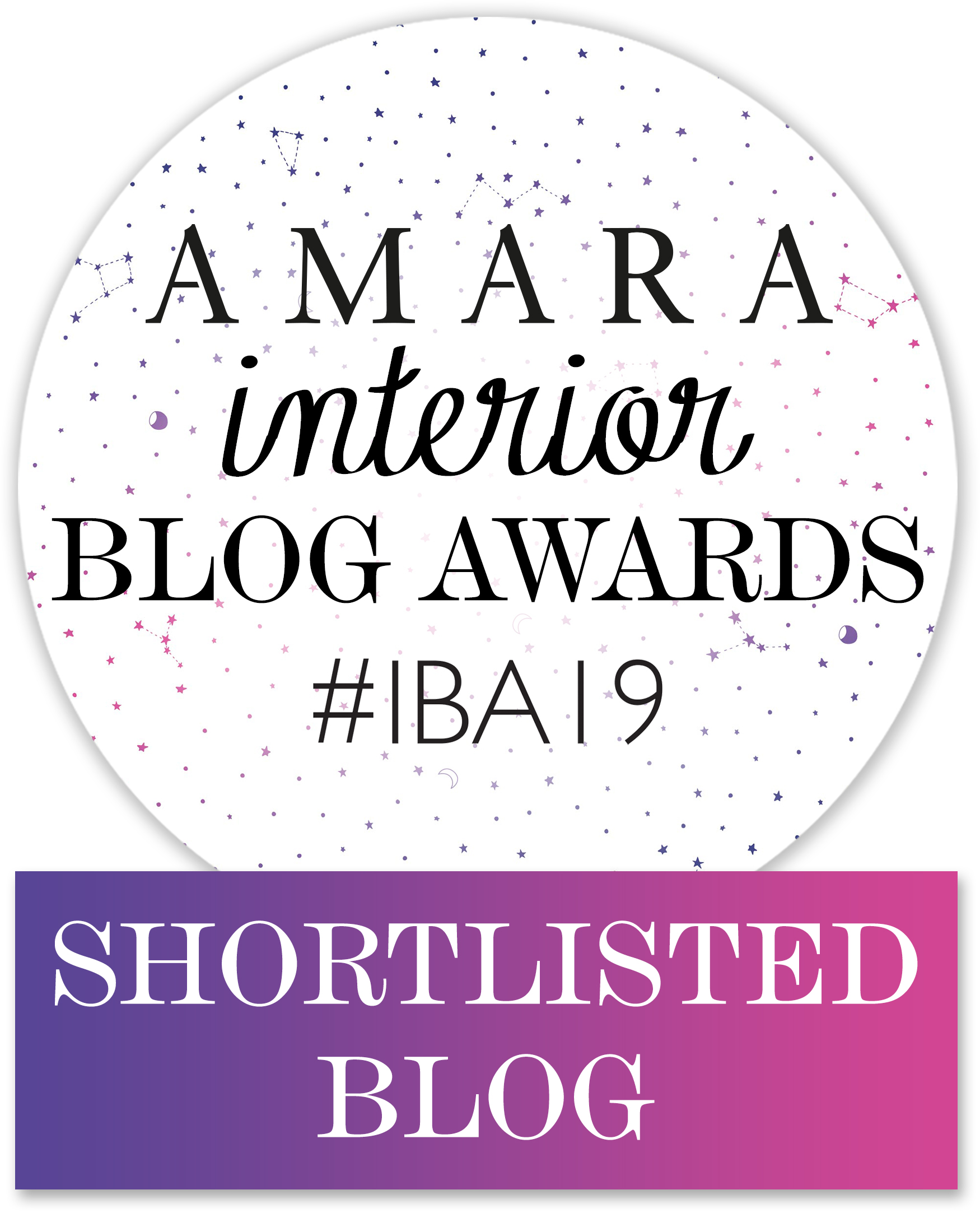 amara interior blog awards shortlist badge