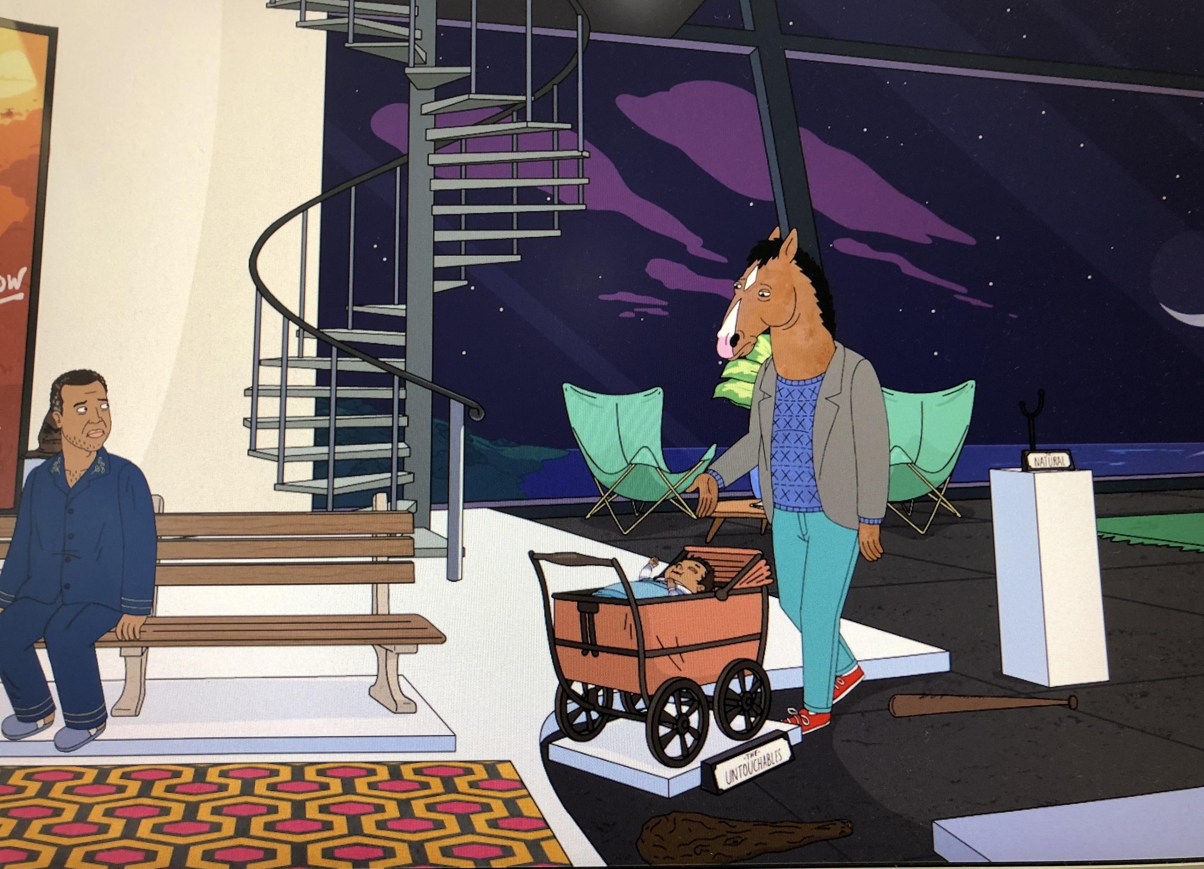 the shining carpet in bojack horseman