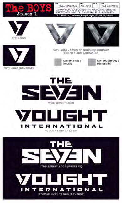 Vought logos for The Boys by David Blass