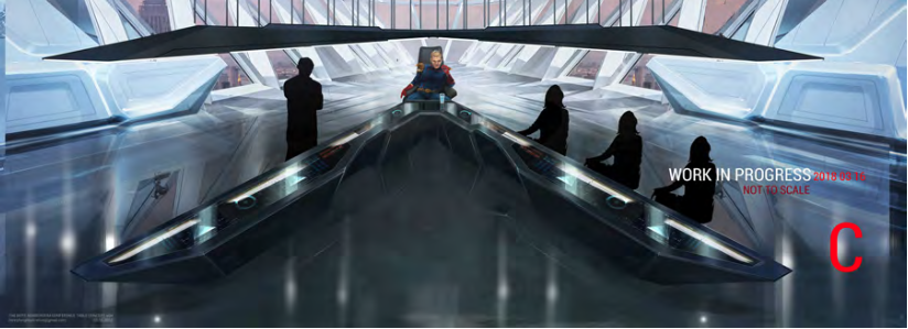 The Boys conference room designs by Production Designer David Blass