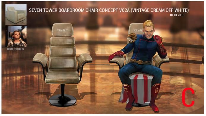 The Boys boardroom designs by David Blass
