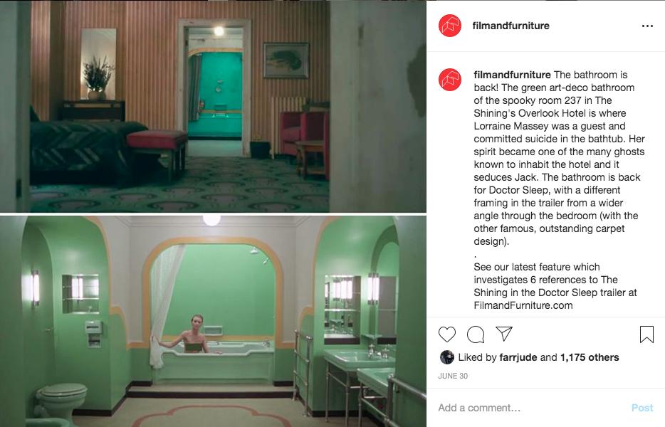 the shining doctor sleep bathroom instagram