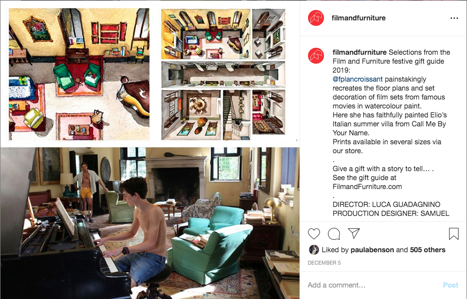 call me by your name floorplan croissant painting floor plan