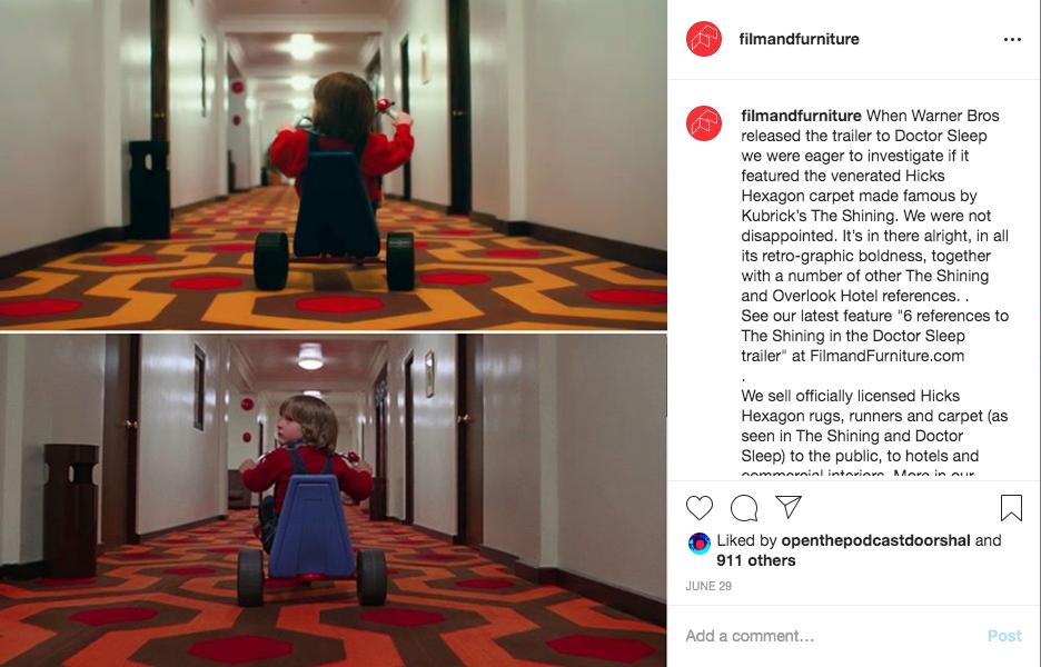 overlook hotel the shining doctor sleep comparison instagram