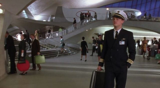 Leonardo DiCaprio in Catch Me If You Can in the TWA Flight Centre
