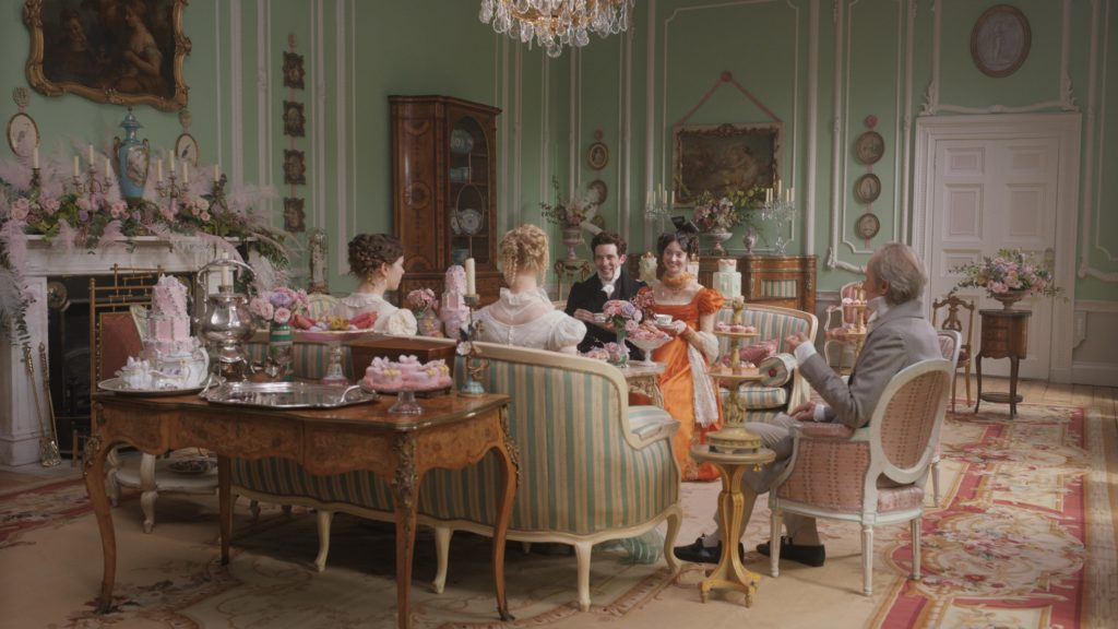 Autumn de Wilde's Emma, production design, set decoration, furniture and interior design.
