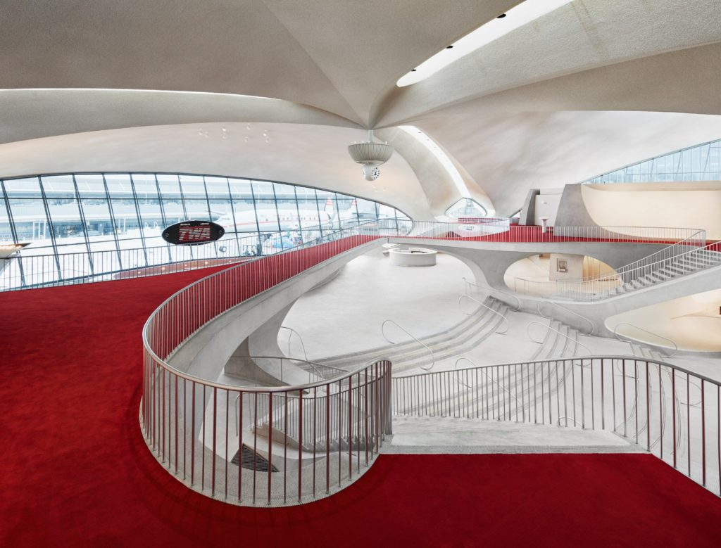 The newly renovated TWA flght centre has reopened as a hotel