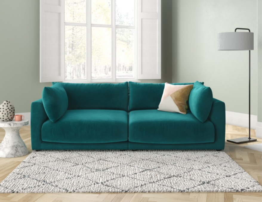The Clemence sofa: Suitable for some serious cosying up