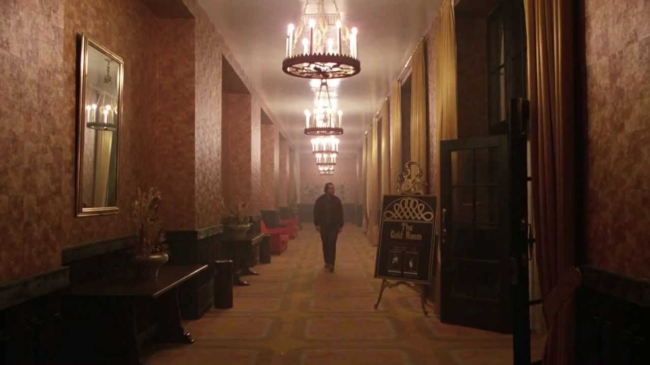 Jack heads towards the bar of The Overlook Hotel on The Shining
