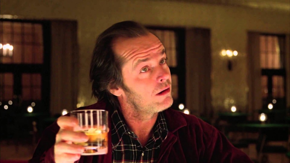 the-shining-overlook-hotel-jack-whiskey-drink whiskey glasses in film