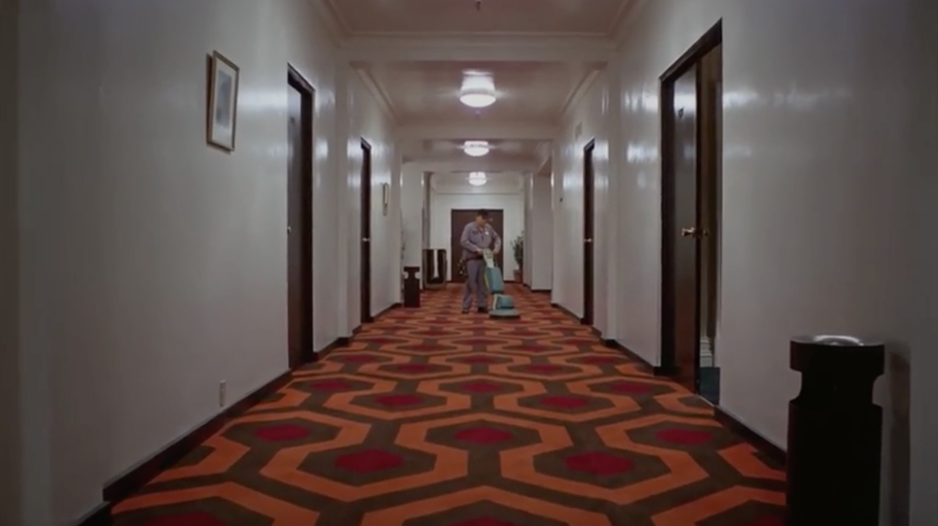 Staff clean and tidy the Overlook Hotel in created by Wieden+Kennedy's advert for the Academy of Motion Pictures Museum