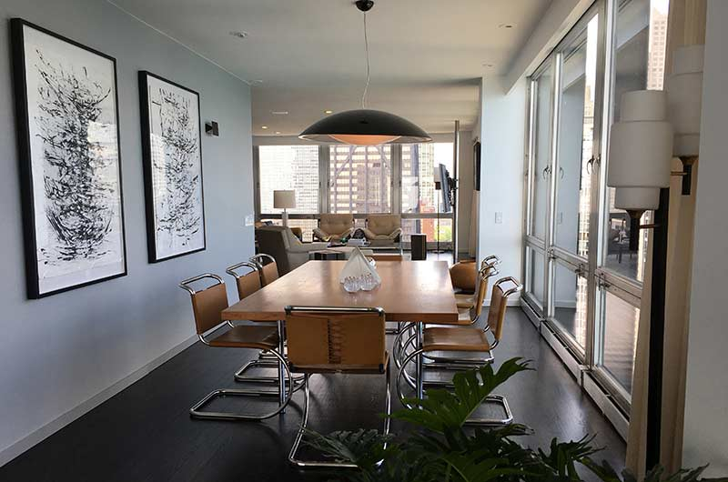 The Rawlings apartment, dining area in Widows.