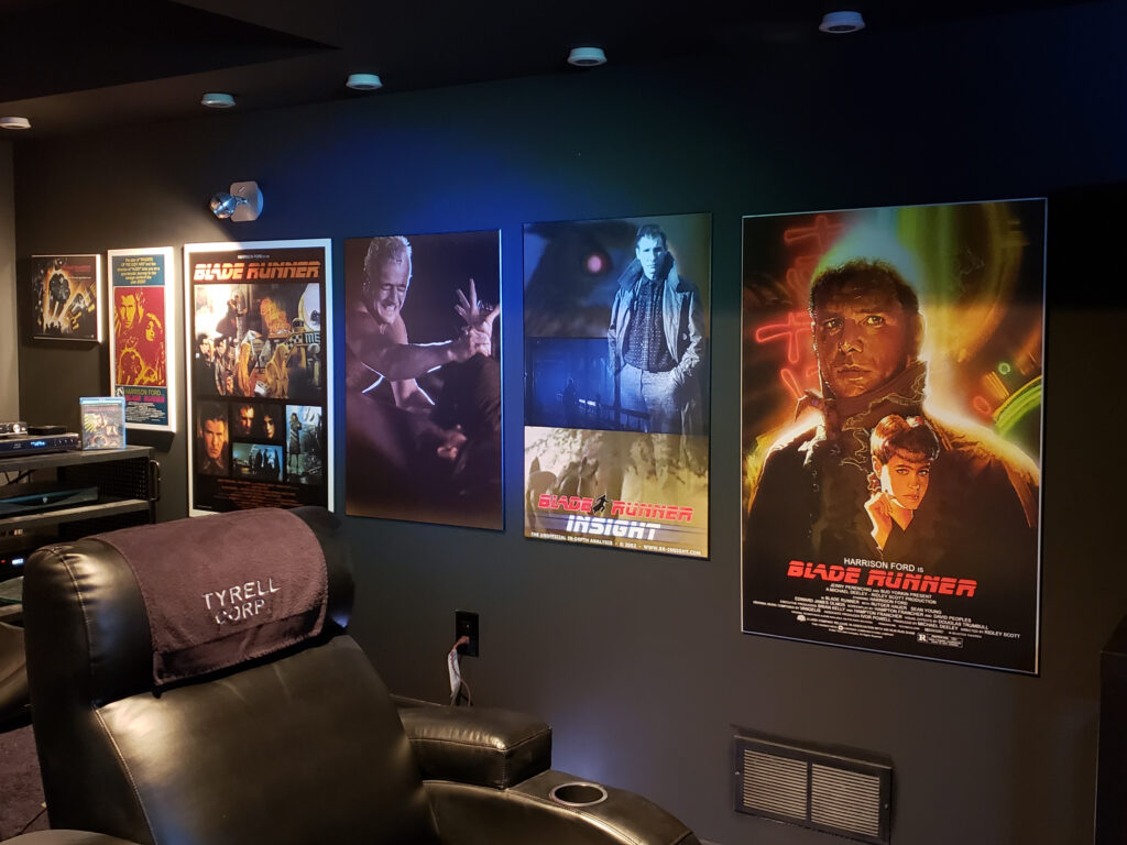 Steven Tyrell Crosbie's home cinema